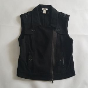 Caché Black Asymmetric Knit Vest M